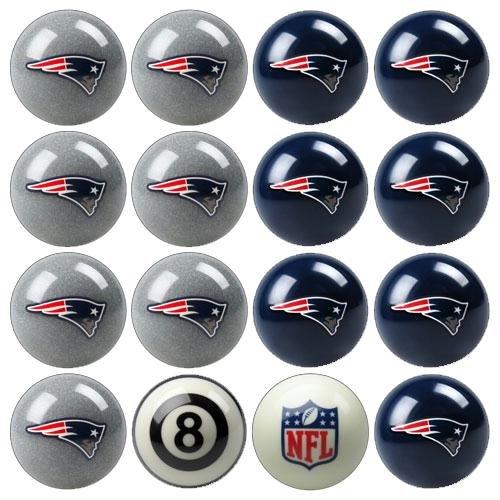Imperial Billiards IMP-50-1111 New England Patriots NFL 8-Ball Billiard Set