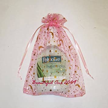 50 Grandes bolsas de Organza 17 x 23 cm - rosa - Moonstar ...