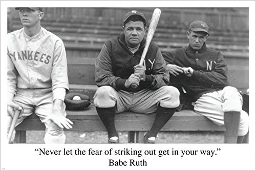 BABE RUTH BASEBALL QUOTE sports pic poster RARE HOT NEW one-