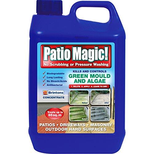 Patio Magic! 2.5 Litres Liquid Concentrate Mould, Algae and Moss Killer