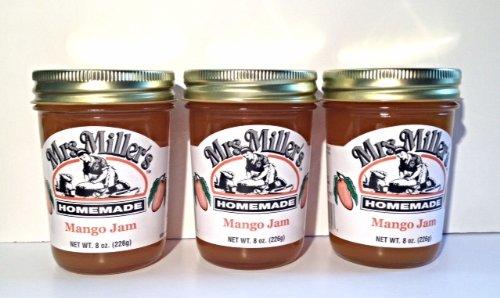 Mrs. Miller's Amish Homemade Mango Jam, 8 oz (3 Jars) by Mrs. Miller's