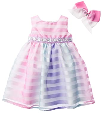 8ade6154 Amazon.com: Blueberi Boulevard Baby Girls Rainbow Dress, Pink Multi ...