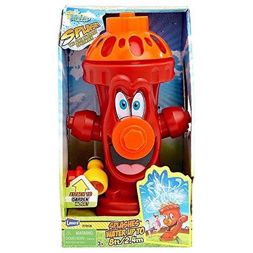 Kids Sprinkler Fire Hydrant, Attach Water Sprinkler for Kids to Garden Hose for Backyard Fun, Splash All Summer Long, Sprays Up to 8 Ft.(Red) by Fun Splashers