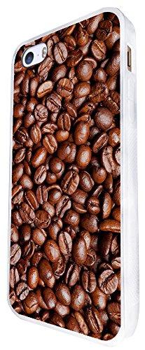 1296 - Cool Fun Trendy Cute Kawaii Coffee Beans Espresso Latte Americano Cappuccino Design iphone SE - 2016 Coque Fashion Trend Case Coque Protection Cover plastique et métal - Blanc