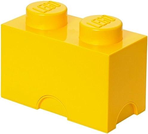 Lego 40021732 - Caja en forma de bloque de lego 2, color amarillo ...