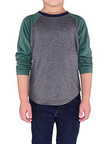 Colored Organics Toddlers & Kids Organic Baseball Tee Shirt - Long Sleeve