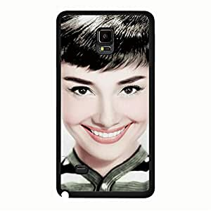 Artistic Pattern Audrey Hepburn Phone Case Cover For Samsung Galaxy Note 4 Audrey Hepburn Fashionable