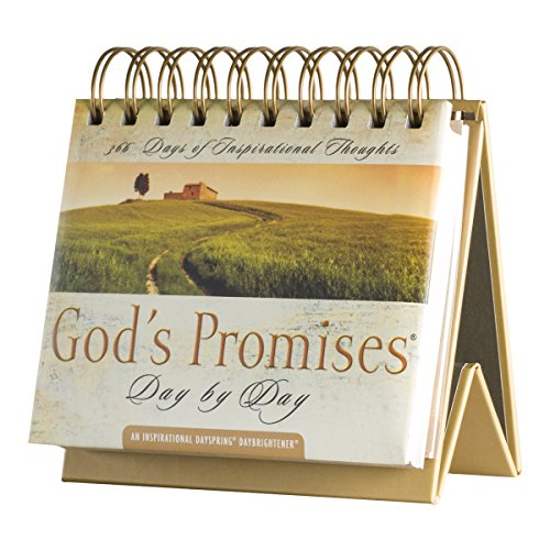 DaySpring God's Promises Day by Day, DayBrightener Perpetual Flip Calendar, 366 Days of Inspiration (77872)