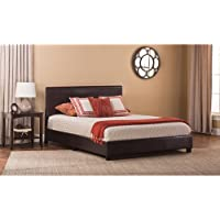 Hillsdale Hayden Faux Leather Upholstered Full Panel Bed in Brown