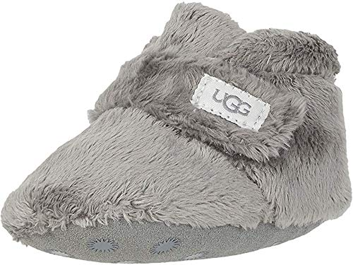 UGG Baby BIXBEE Crib Shoe, Charcoal, 0/1 M US Infant