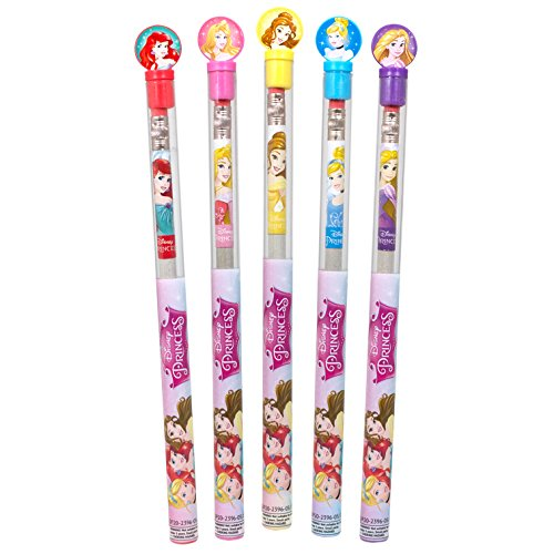 Disney-Princess-SMENCILS-Gourmet-Scented-Pencils-with-Collectible-Character-Tops-Pack-of-5