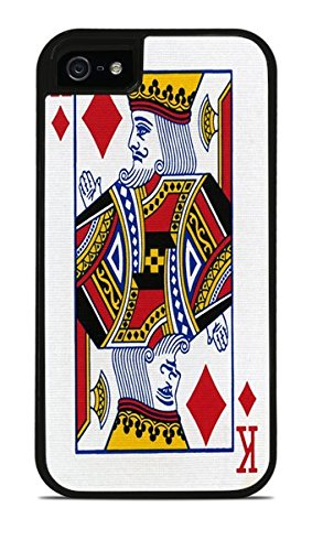 King of Diamonds Playing Card Black 2-in-1 Protective Case with Silicone Insert for Apple iPhone 5 / 5S (Case Shuffle Protective Silicone)