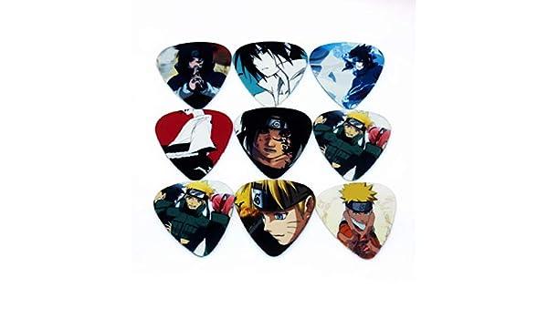 Uzumaki Naruto - Juego de púas para guitarra (tamaño mediano, 10 ...