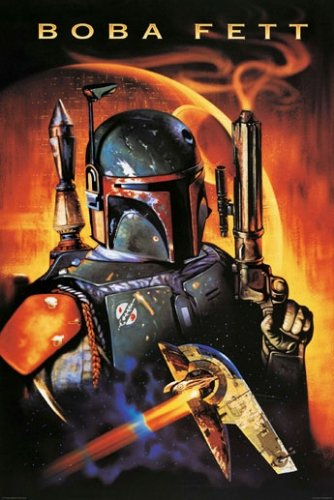 Star Wars - Movie Poster (Boba Fett & Death Star) (Size: 24 inches x 36 inches)