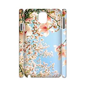3D Samsung Galaxy Note 3 Case Spring Blossoms., Samsung Galaxy Note 3 Case Blooms, [White]