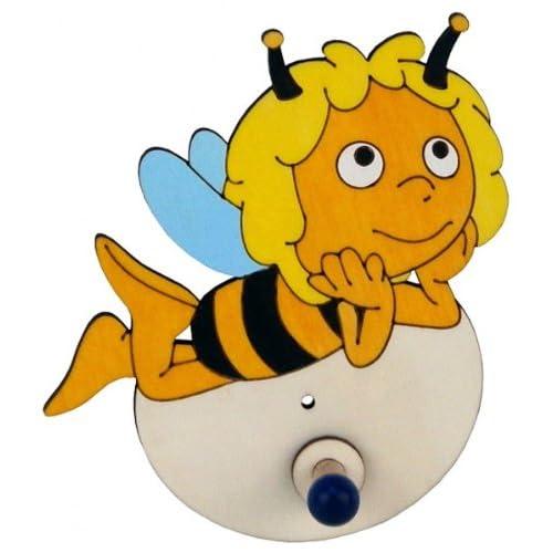 hobea-germany Crochet porte-manteaux Maya l'abeille couché, 13x 15x 5cm, noir/jaune durable service
