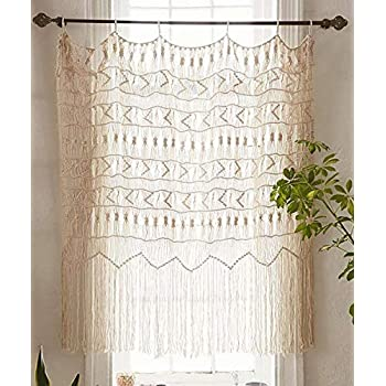Flber Macrame Curtain Wall Hanging Handwoven Boho Wedding Backdrop Kitchen Curtains52