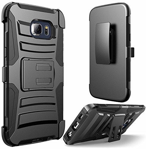 Galaxy S6 Edge PLUS case, E LV HOLSTER Defender Armor Case Cover - Shell Holster Combo with Belt Clip and Kickback Stand - case cover for Samsung Galaxy S6 Edge PLUS + ...