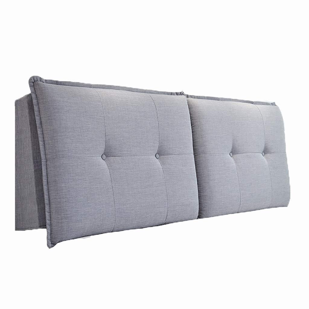 ベッド枕 綿と麻の取り外し可能なヘッドボード大型クッションバックベッドソフトパック背もたれ枕高弾性スポンジ充填は崩壊しません6色サイズ90 * 10 * 60 cm 写真ベッド枕首まくら (Color : C, Size : 200cm) B07T5MLV2L C 200cm