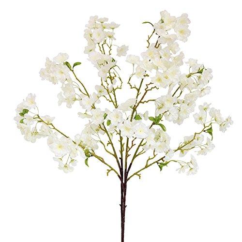 - Htmeing 2 Pieces Artificial Silk Cherry Blossom Flowers for Wedding Centerpieces Floral Arrangement Decorations (White)