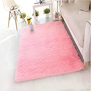 Hunpta Weiche Flauschige Teppiche Anti Skid Shaggy Bereich Teppich Esszimmer  Home Schlafzimmer Teppich Bodenmatte 50
