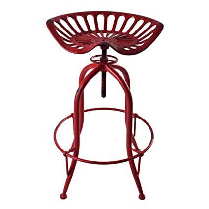 Pleasant Amazon Com Industrial Barstools Chair Metal Tractor Ncnpc Chair Design For Home Ncnpcorg