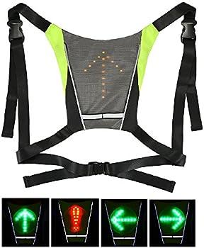 Lixada USB Rechargeable Reflective Vest Backpack