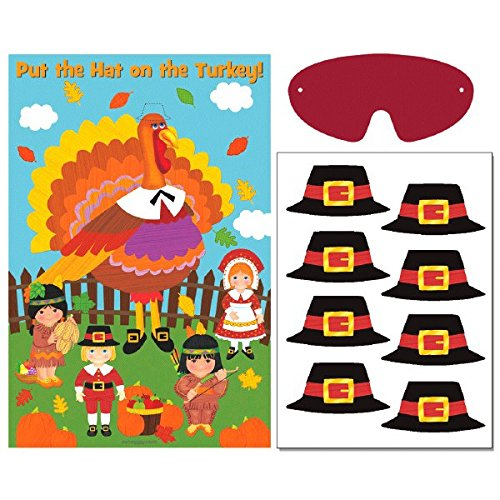 amscan Festive Fall Thanksgiving Party Game Activities, Multicolor (Games Turkey)
