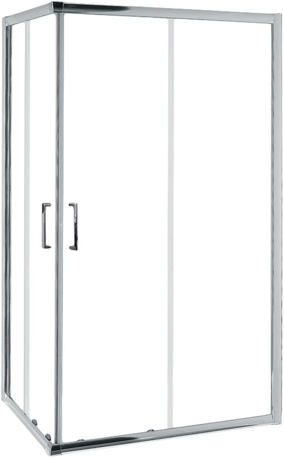 Mampara de Ducha MODULAR Rectangular - 2 Hojas FIJAS + 2 Hojas CORREDERAS. Con Tratamiento EASY-CLEAN. (80 x 120 cm, SERIGRAFIADO): Amazon.es: Bricolaje y herramientas