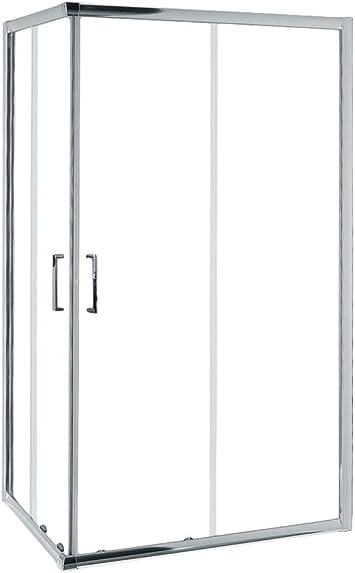 Mampara de Ducha MODULAR Rectangular - 2 Hojas FIJAS + 2 Hojas CORREDERAS. Con Tratamiento EASY-CLEAN. (90 x 110 cm, SERIGRAFIADO): Amazon.es: Bricolaje y herramientas