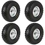Yaheetech 4 Pack 10″ Spare Cart Tires/Wheels for Camping/Garden / Beach or Truck/Trolley / Wagon For Sale