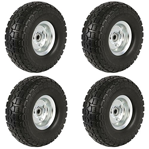 Axle Tyre - Yaheetech Solid Wheelbarrow Tires Sack Truck Cart Wheel 5/8