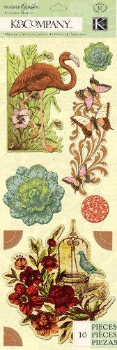 (K&Company Engraved Garden Icon Sticker Medley )