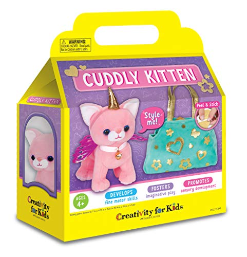 Creativity for Kids Cuddly Kitten Plush Toy - Kitty Stuffed Animal and Pet Carrier Purse