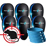 ULTRASONIC PEST REPELLENT 6-PACK & 4 MOSQUITO BRACELETS [2018 NEW MODEL] Electronic Plug In Repeller to Control Rats, Mice, Mosquitos,Insects, Spiders, Fleas, Roaches, Eco-Friendly - Baby & Pet Safe!
