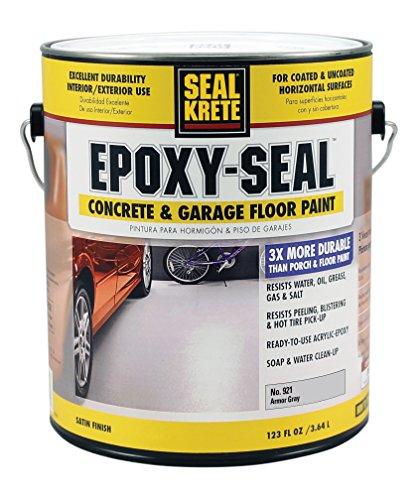 Concrete Walkway Paint (Seal-Krete 921001 Epoxy-Seal Concrete & Garage Floor Paint, Gallon, Armor Gray)