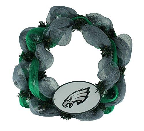 The Memory Company NFL Philadelphia Eagles Logo Mesh Holiday Door Wreath