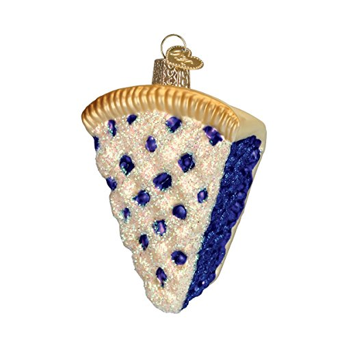 (Old World Christmas Glass Blown Ornament with S-Hook and Gift Box, Sweets Collection (Blueberry Pie) )