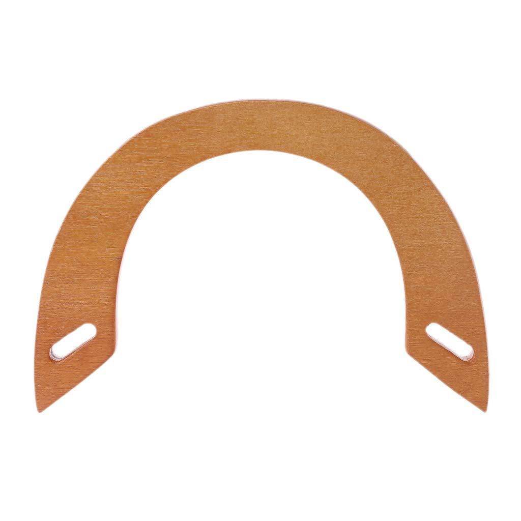 Simdoc 1pc Wooden Bag Handle Handbag Handle U Shaped Bag Handle Replacement for DIY Purse Making Tote Accessory