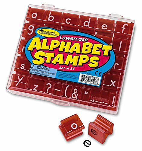 Learning Resources Lowercase Alphabet Stamps, Classroom Teacher Accessories, 34 Pieces, Ages 3+