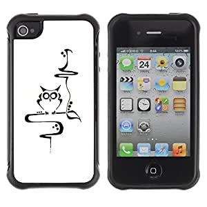 "Hypernova Defender Series TPU protection Cas Case Coque pour Apple iPhone 4 / iPhone 4S [Profesor Escuela Inteligente minimalista""]"