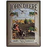 John Deere Man & Boy large embossed steel sign