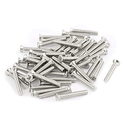 Amazon.com: eDealMax 50 piezas de Acero inoxidable M2.5x16mm ...