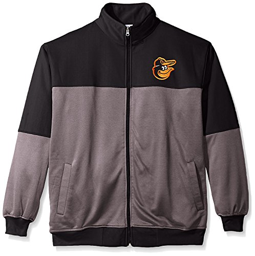 - Men's Baltimore Orioles Big & Tall Performance Full Zip Yoke Track Jacket Fleece 4XL