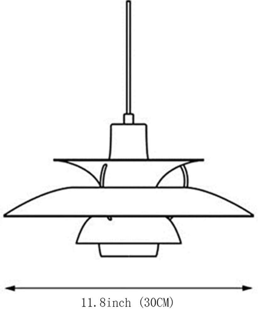 11.8in JppeamA Pendelleuchte D/änemark Design H/ängeleuchte Esszimmer Mitte des Jahrhunderts Wohnzimmer Loft Kronleuchter E27,B-XL