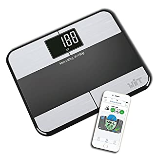 WiTscale S1 Stainless Steel Body Fat Bluetooth Smart Digital Bathroom Scale with Large Backlit Display and Step-On Technology for Galaxy S8, Note8, iPhoneX(Support Apple HealthKit) and iPad Pro (B009RGD6I6) | Amazon price tracker / tracking, Amazon price history charts, Amazon price watches, Amazon price drop alerts