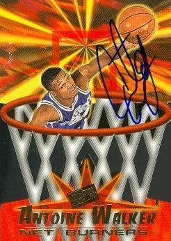 Antoine Walker autographed Basketball Card (Kentucky) 1996 Press Pass #40 Rookie - Autographed College Cards