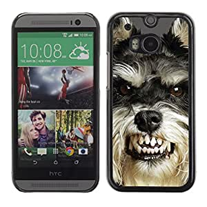 Vortex Accessory Carcasa Protectora Para HTC ONE ( M8 ) - Angry Dog Teeth Cairn Terrier Pet -