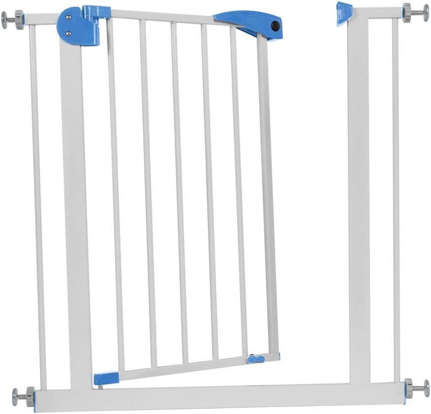 Barrera de Seguridad Safety, Valla Seguridad Puerta Barreras de Seguridad Escaleras Metálica para Niños Bebe Mascotas Perros 76x79x3.5CM(Marrón): Amazon.es: Hogar