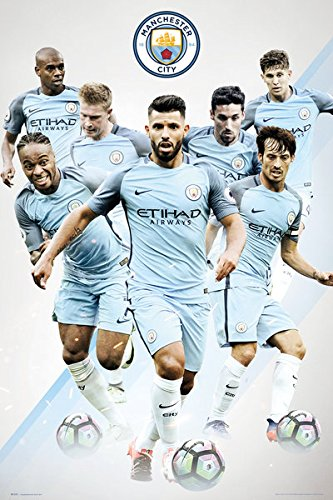 Manchester City - Soccer Poster / Print (The Players - 2016 / 2017) (Size: 24